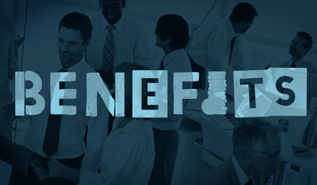 Benefits Advantage Assests Bonus Wages Concept